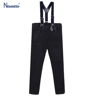 Дънков панталон с тиранти от Newness антрацит