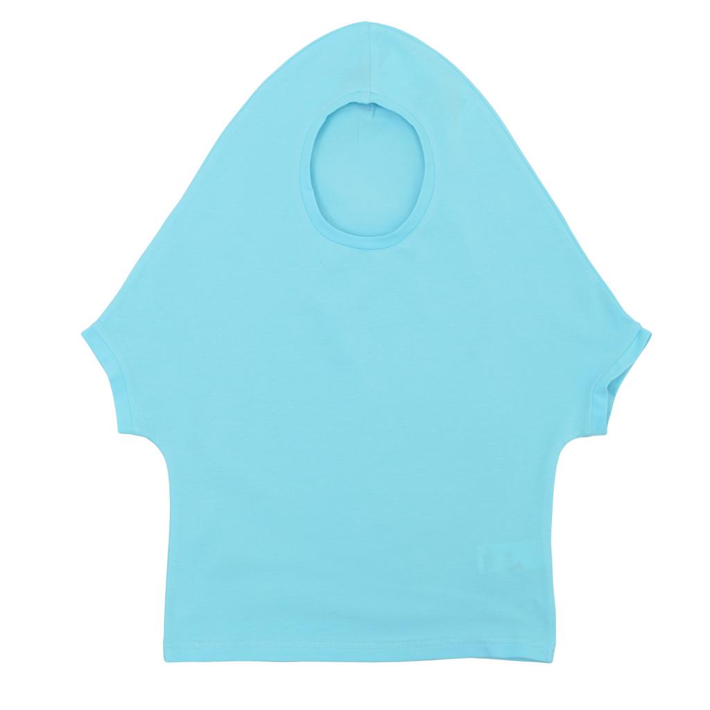 Оригинална детска блуза с имитация на качулка синя