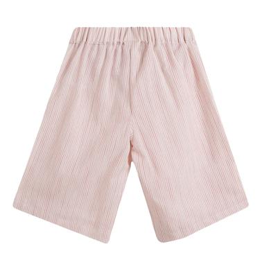 Елегантен панталон с крачол 7/8 на райета от Newness розов