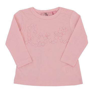 Бебешка туника love розова