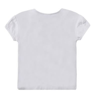 Блуза с буфан ръкав и щампа на момиче от Newness в бяло