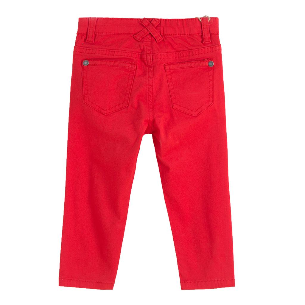Панталон Newness с дълъг крачол червен