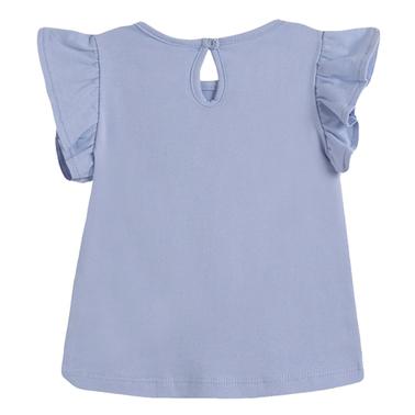 Тениска с къдрички и русалка от Newness в синьо