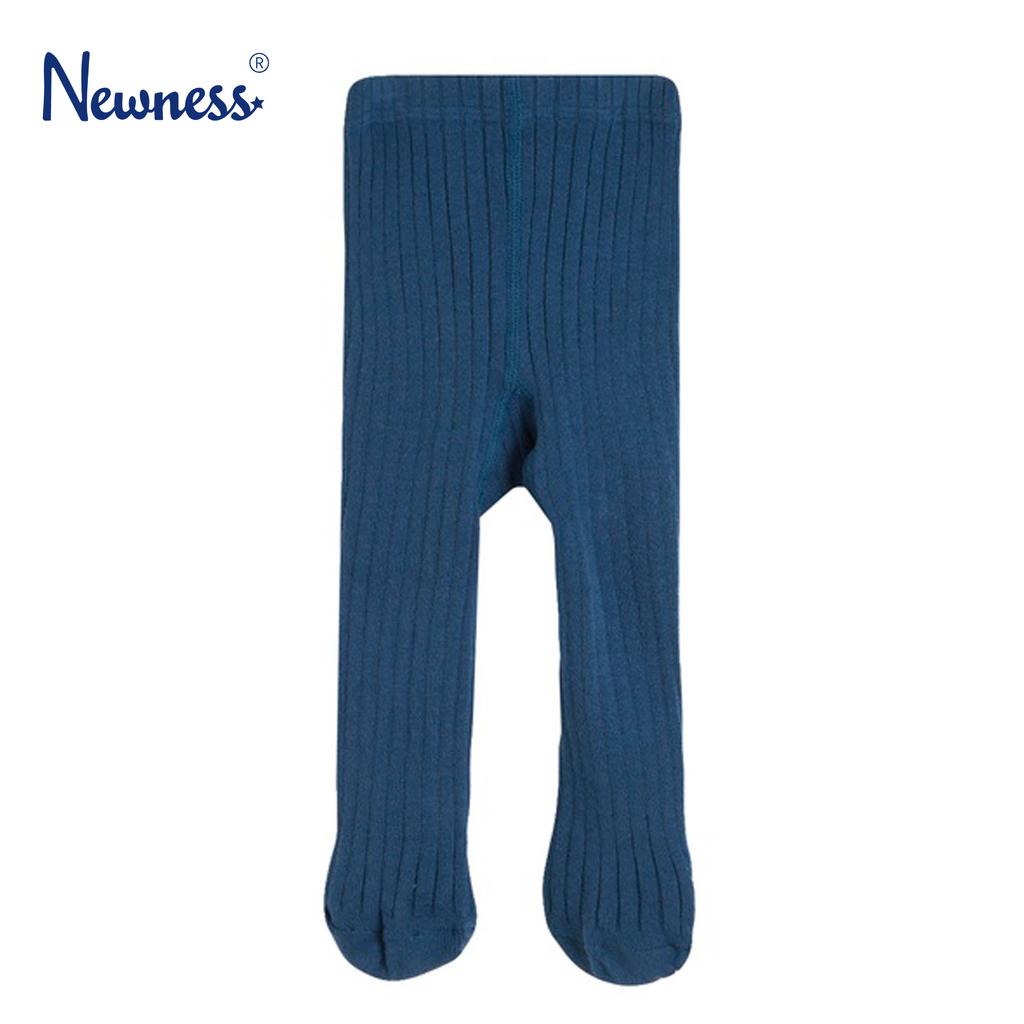 Рипсен чорапогащник Newness със стъпало син