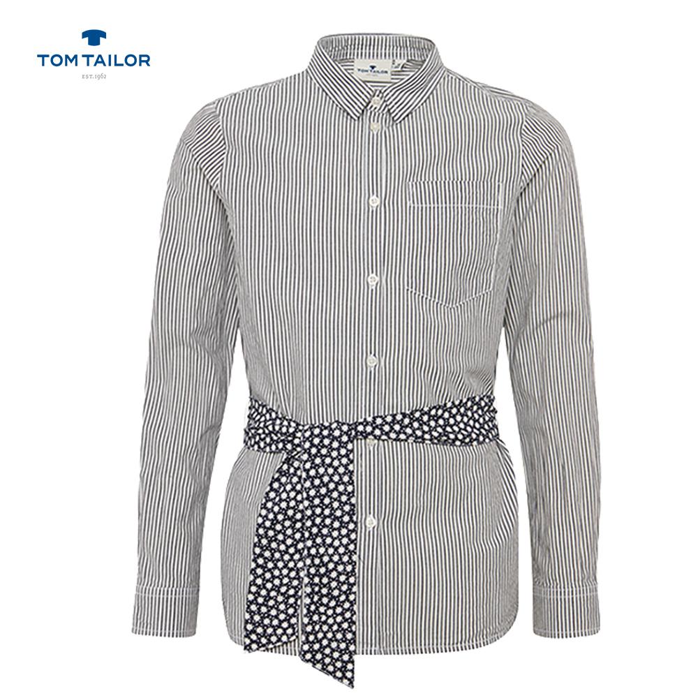 Раирана риза с колан на Tom Tailor