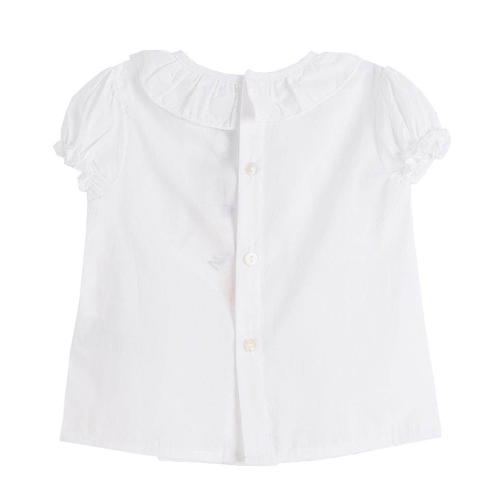 Риза Newness с къс ръкав и плохи  бяла