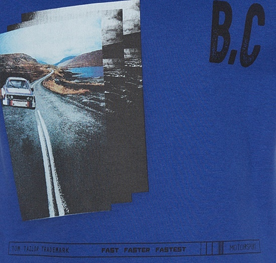 Детска спортна блуза TOM TAILOR синя