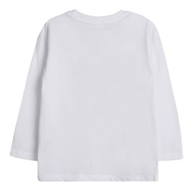 Блуза Newness с дълъг ръкав и цветни букви бяла