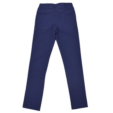Панталон тип клин с пискюли тъмно син