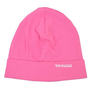 Трикотажна памучна шапка с лого ''Точици'' циклама