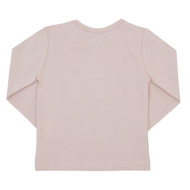 Блузка с миещо мече с бляскава панделка розова