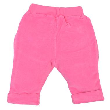 Бебешки джинси с подплата и джобове цикламени