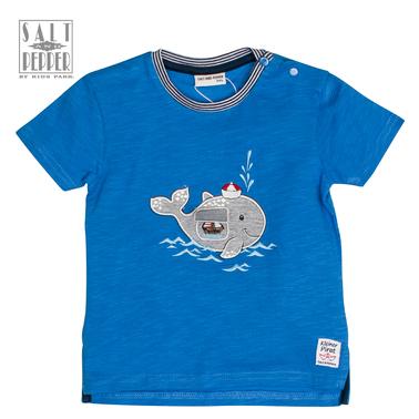 Тениска Salt & Pepper с лаком кит синя