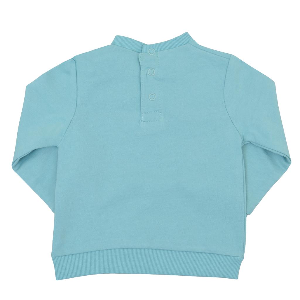 Спортна ватирана блуза с котешка муцунка светъл електрик