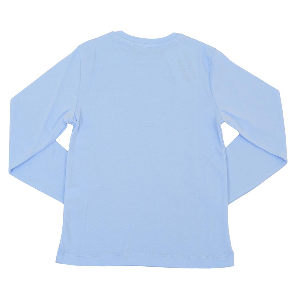 Детска рипсена блуза с лого ТОЧИЦИ синя