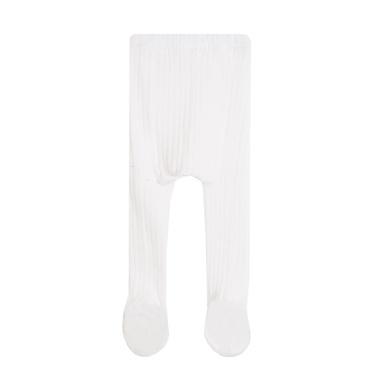 Рипсен чорапогащник Newness със стъпало бял