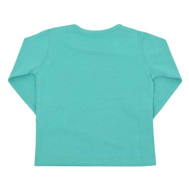 Блуза дълъг ръкав с релефен надпис и сърца резеда