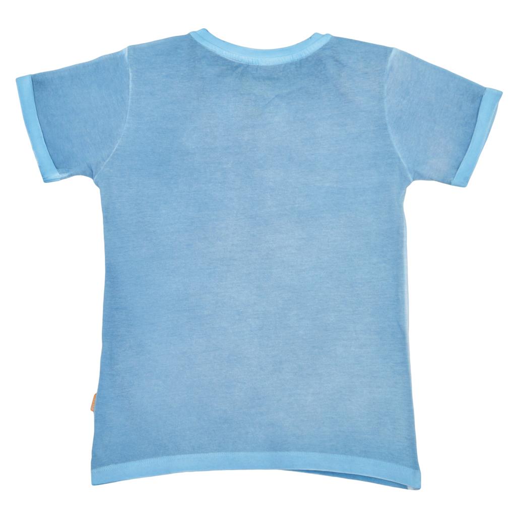 Детска блуза винтидж стил със скейтборд синя