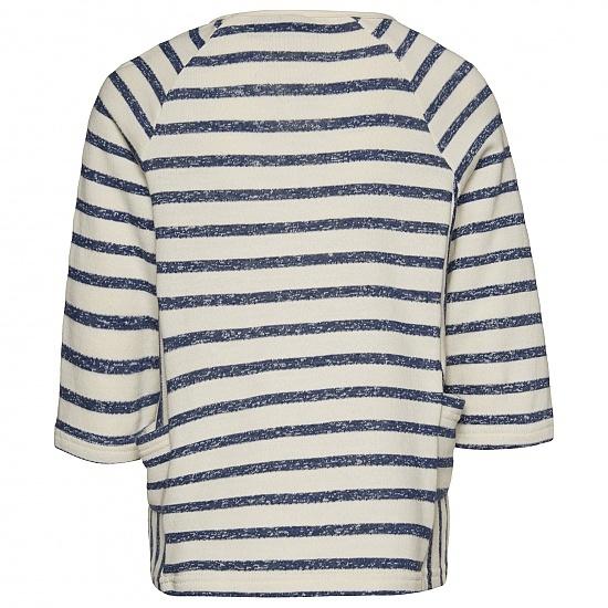 Детска блуза в райе с широки ръкави и джобове Tom Tailor синя