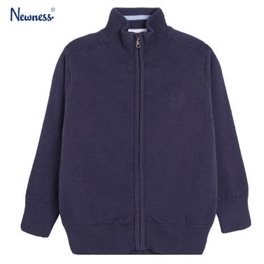Жилетка Newness от фино плетиво с цип тъмно синя