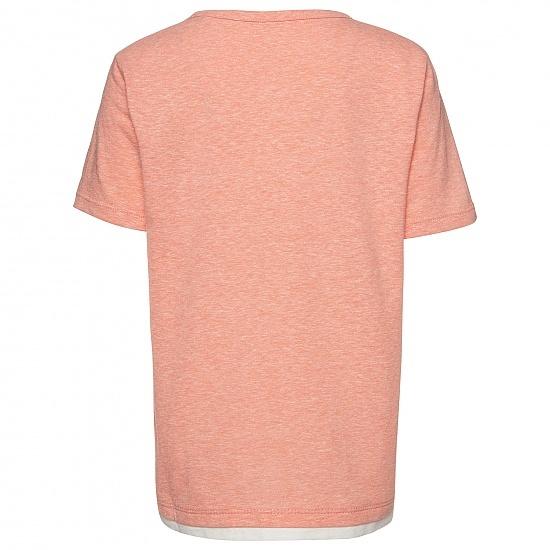Детска тениска в райе с надпис Tom Tailor червена