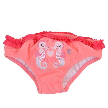 Бански-бикини с къдрички и морски кончета в розово