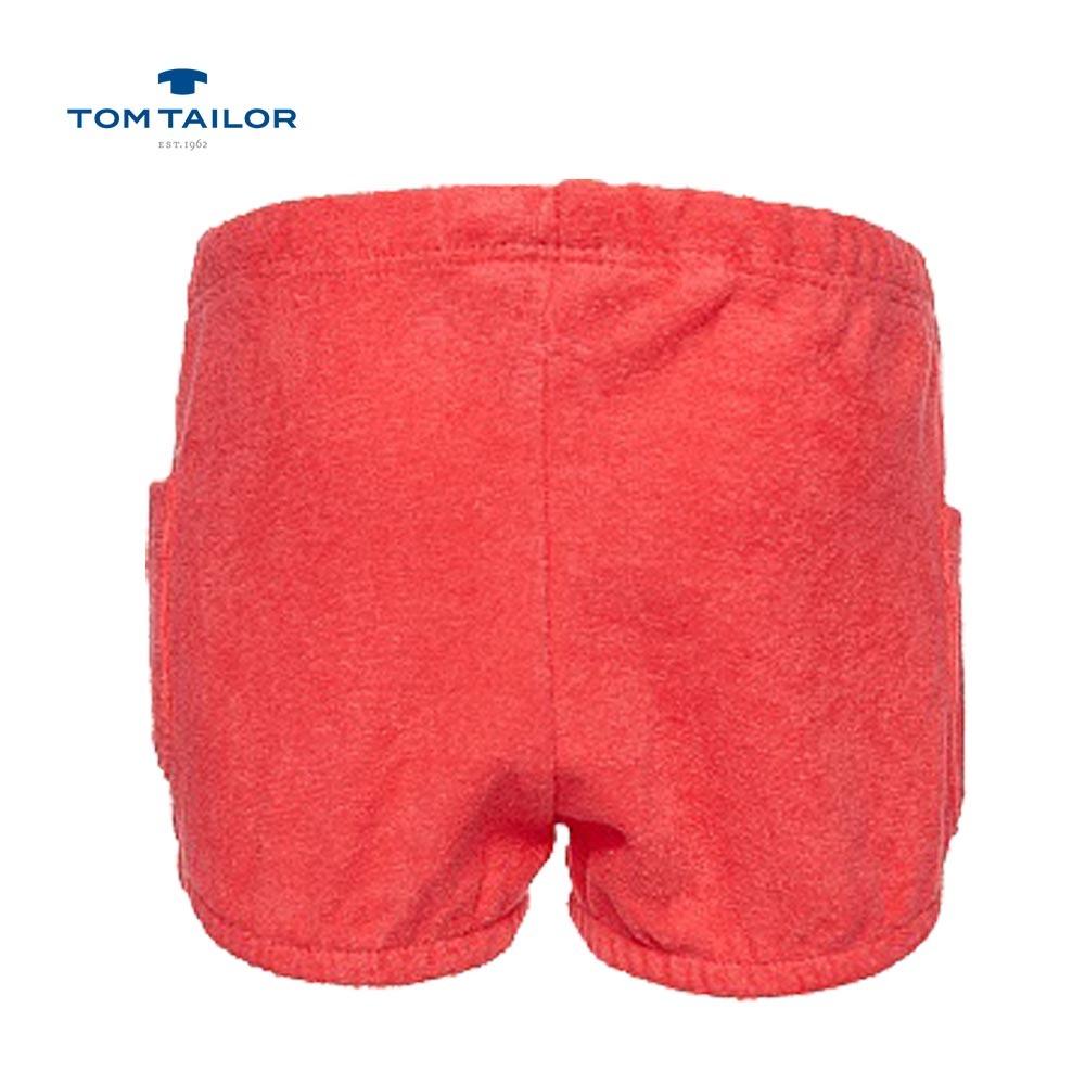 Бебешки къси панталони хавлиени TomTailor розови