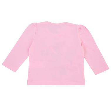 Бебешка блуза с дълги ръкави с щампа с лисица розова