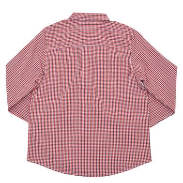 Памучна пепитена риза с дълъг ръкав от Tom Tailor червена