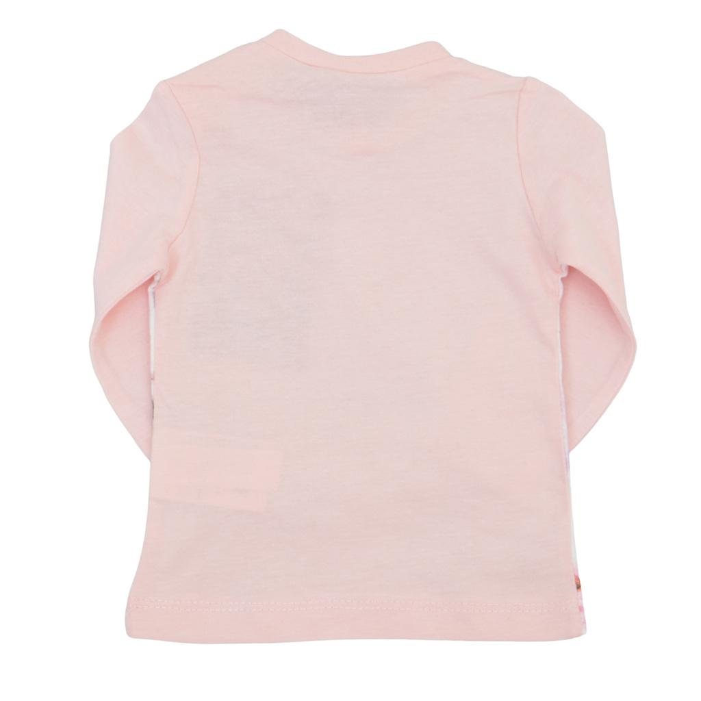 Бебешка блуза с рисувана щампа розов