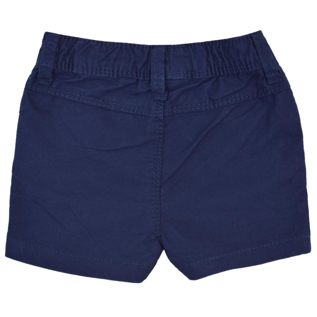 Къси панталони с джобчета и щампа котва тъмно сини