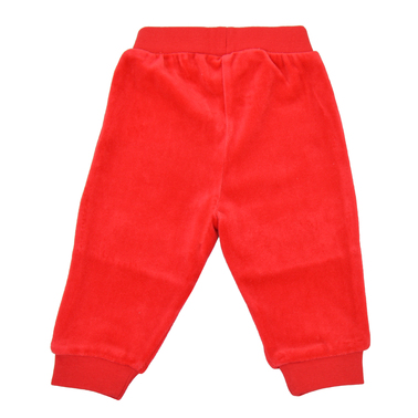Меко плюшено долнище с мечета на колената червено