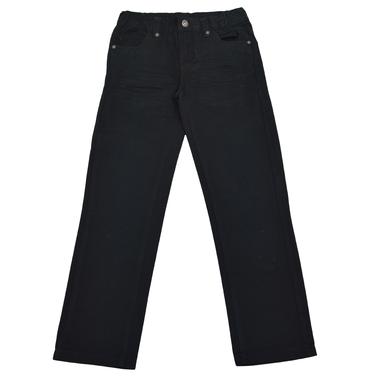 Изчистен памучен панталон за есента черен