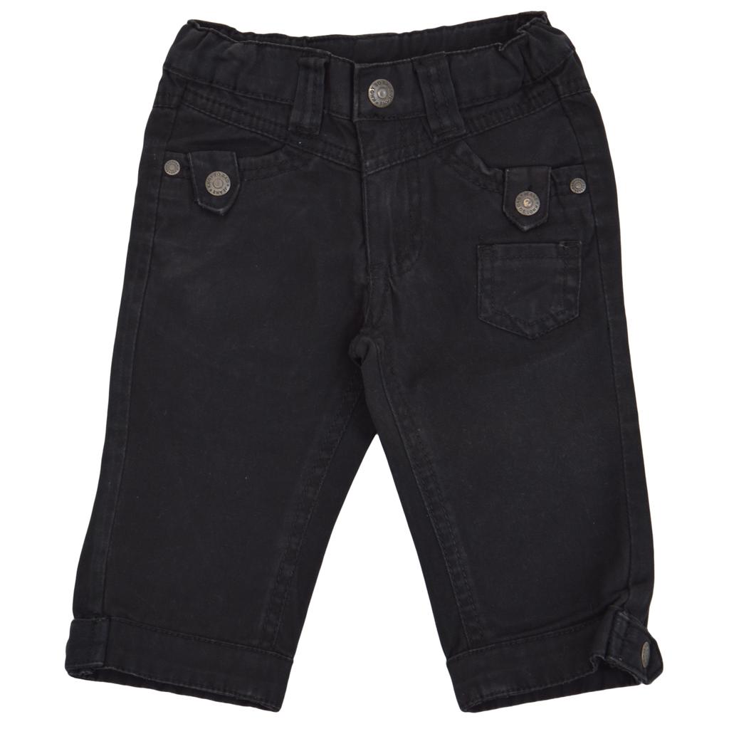 Прави изчистени дънки тип панталон тъмно сиви
