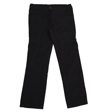 Панталон с джобове прав черен