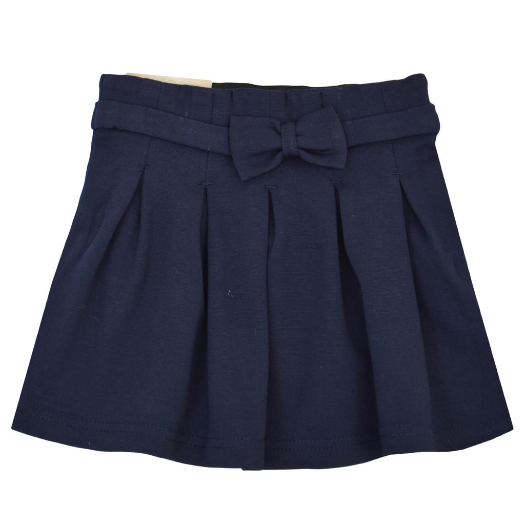 Детска пола с плохи тъмно синя