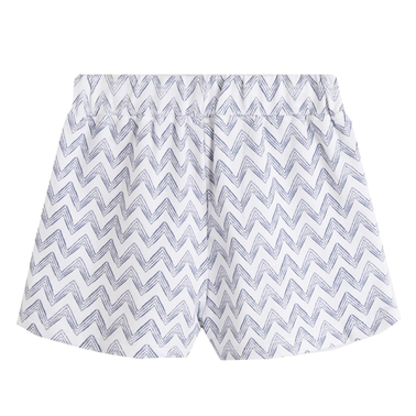 Спотрни панталонки на зиг-заг от Newness в бяло