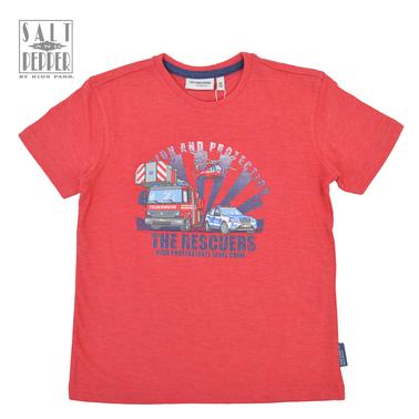 Тениска със спасителен отряд от Salt & Pepper в червено