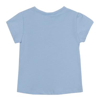 Тениска Newness със зайче и глухарчета в синьо
