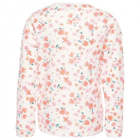 Блуза с флорални мотиви с връзка Tom Tailor бяла