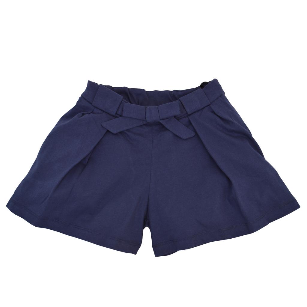 Къси панталонки с широк крачол, плохи и коланче тъмно сини