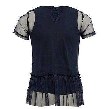 Блуза 2в1 Tom Tailor с тюл и пайети синя