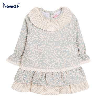 Бебешка рокля на листа с волани от Newness зелена
