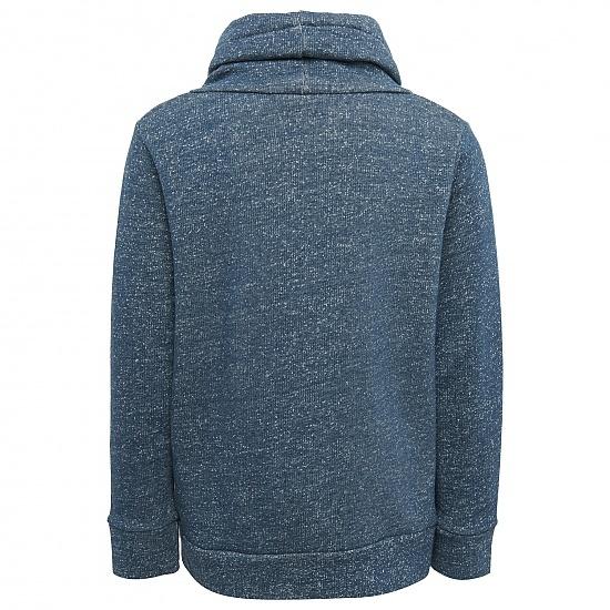 Блуза с шал-яка на райета Tom Tailor тъмно синя
