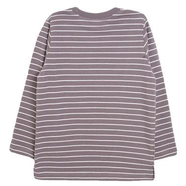 Раирана блуза с релефна светкавица от Newness сива