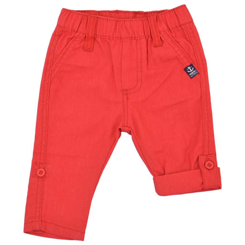 Панталон с крачол 2 в 1 с ластик червен