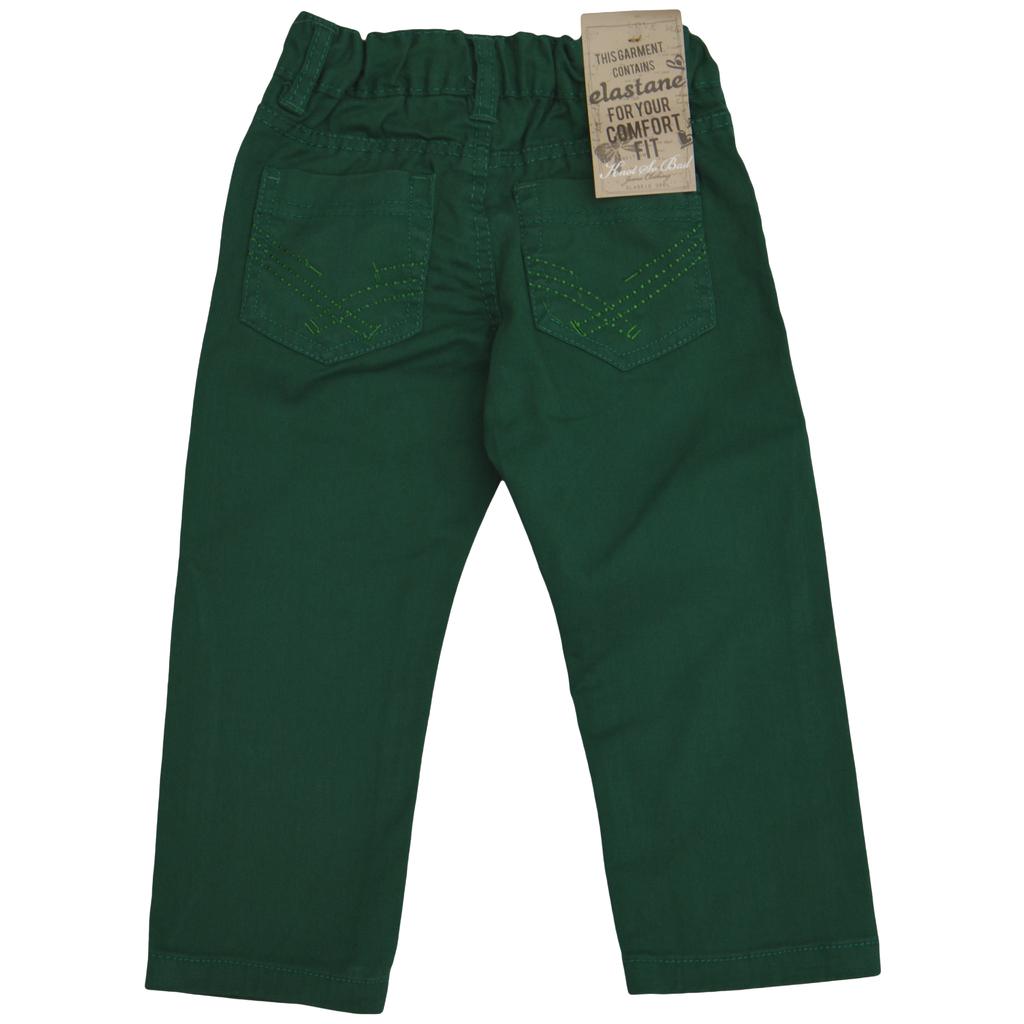 Мек памучен панталон зелен