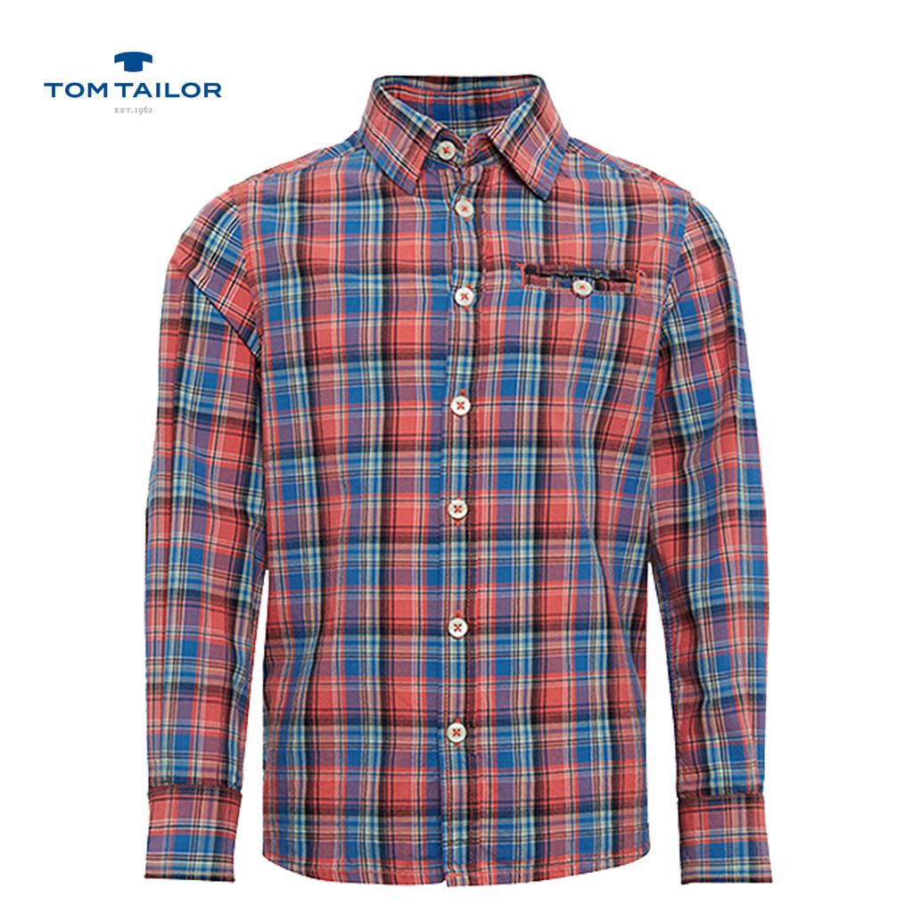 Риза на карета с ръкав 2 в 1 на Tom Tailor червена