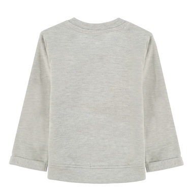 Ватирана блузка с плетено облаче от Tom Tailor сив меланж