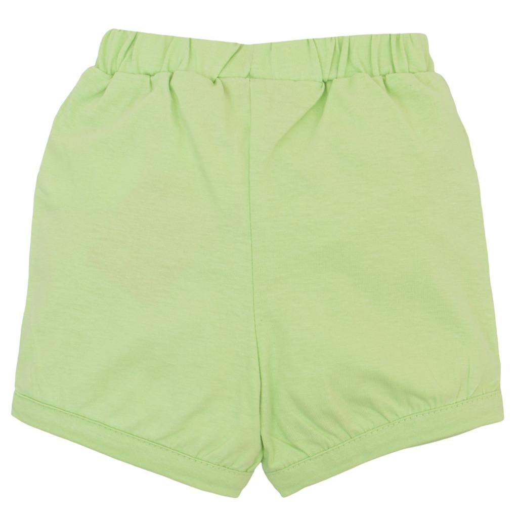 Къси панталонки от трико с панделка резеда